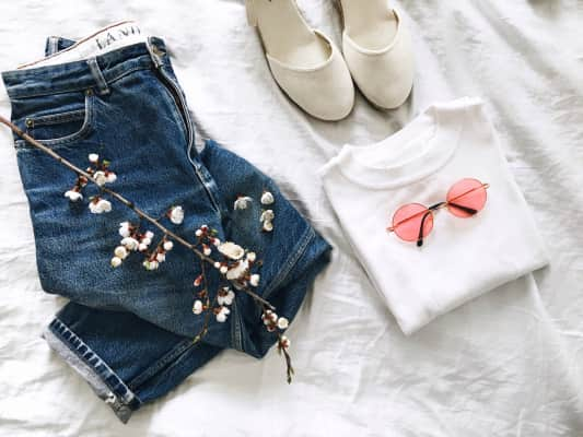 Spring outfit flatlay