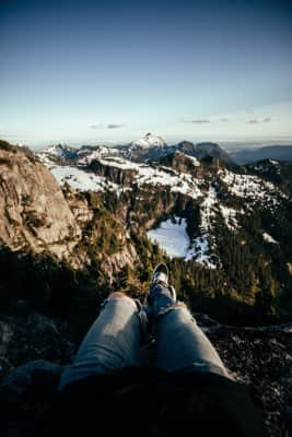 On top of the Northern Cascades in B.C.