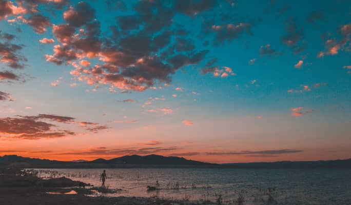 Lake Mead during sunset