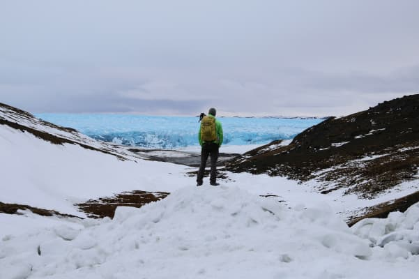 Camp close to the ice cap in Greenland