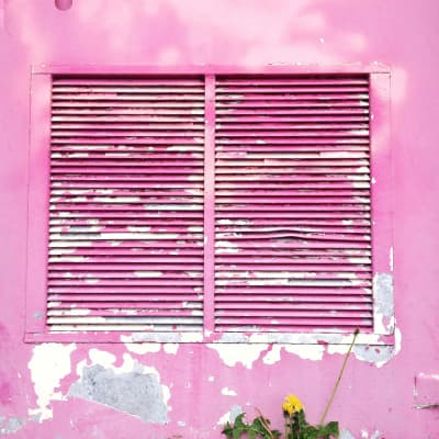 Decay pink wall