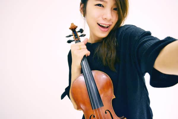 Selfie with violin