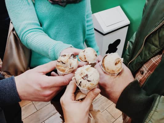 Ice cream with friends