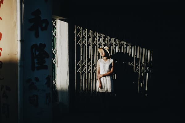 People with shadow play