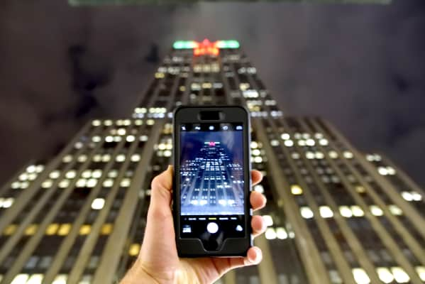 Empire State Building being captured by a smart phone camera. RLTheis