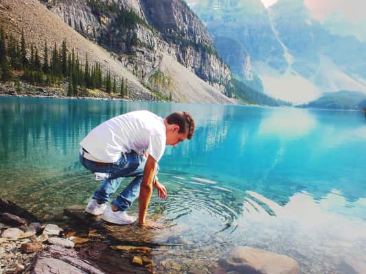 Me playing in Moraine Lake :)