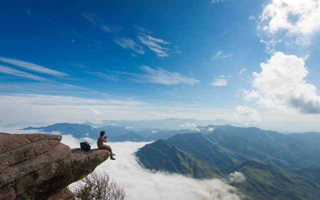 Pha Luong, top mountain at the borderline Vietnam and Laos, famous in history and trekking place in Vietnam