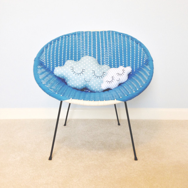 Cloud cushions on seat