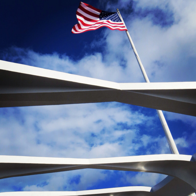 Standing on the Arizona Memorial, feeling the weight of the past and looking up and out. To the future perhaps?