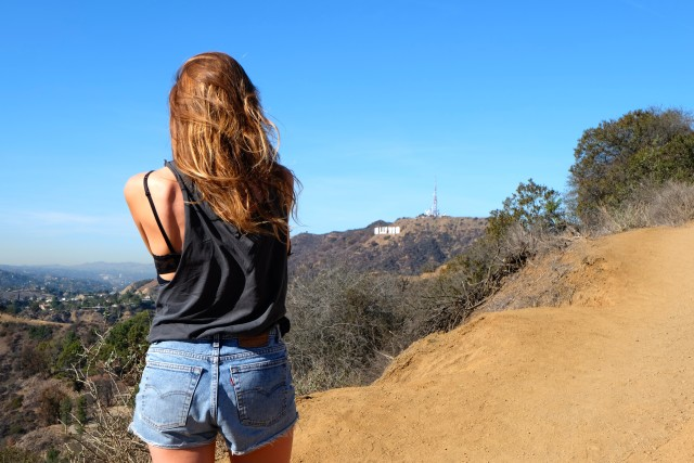 Griffith Park shot of the Hollywood sign