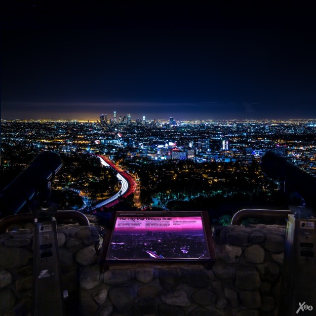 """Dreams II."" — Hollywood Bowl Overlook, Hollywood, CA"