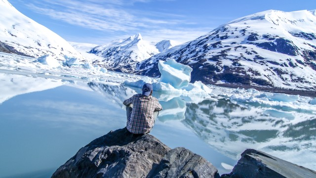 beautiful view of Portage Glacier