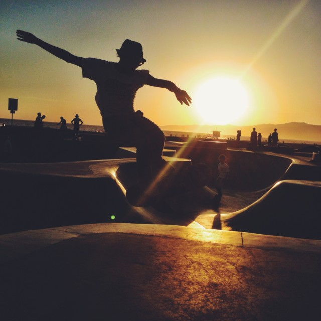 Getting some good pics at the skatepark in Venice Beach.