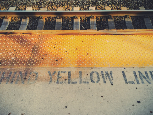 Free authentic yellow lines photo on Reshot