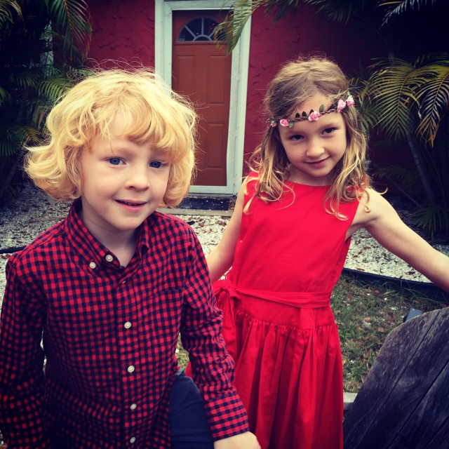 Kids at Christmas in Florida
