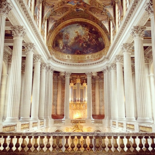 Inside Palace of Versailles.