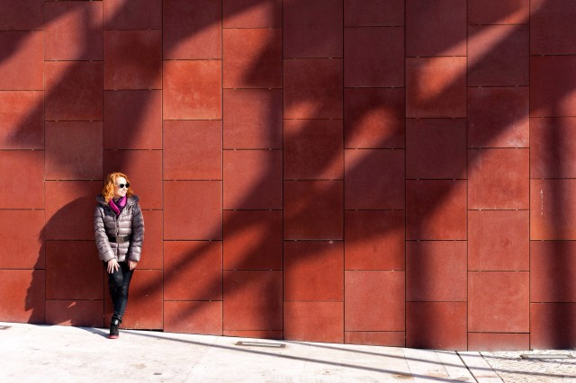 Free authentic red wall photo on Reshot