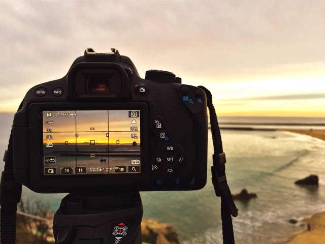 Taking a picture of Corona del Mar Sunset