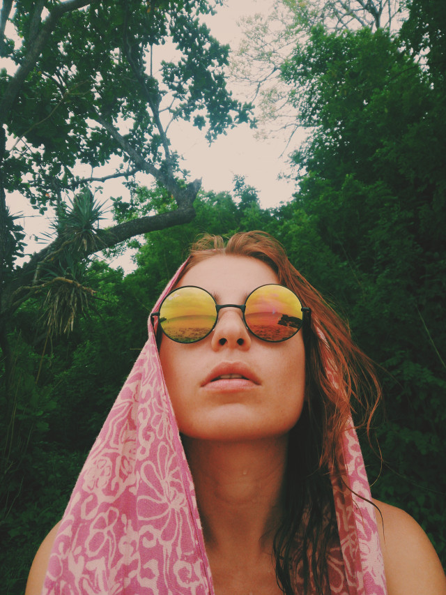 Young Hippie Woman At Tropical Beach
