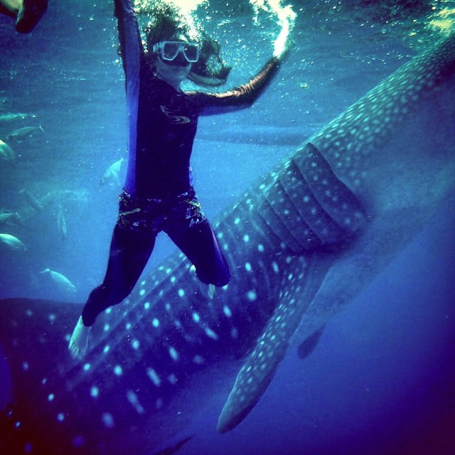 Selfie with huge creatures