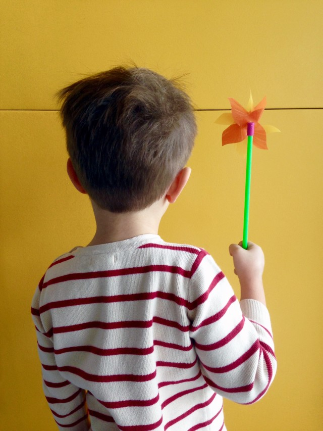 Boy with Pinwheel
