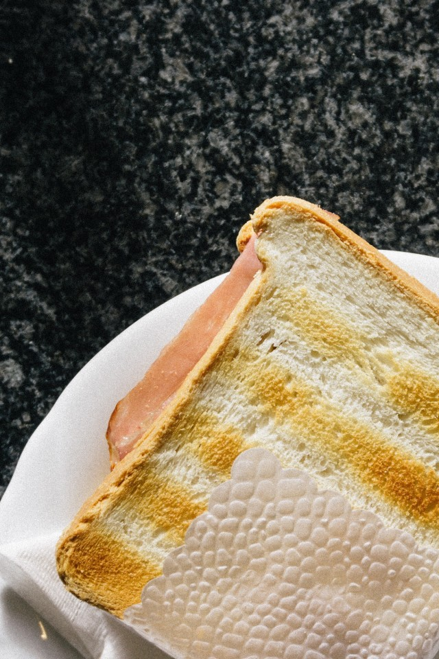 Ham cheese toast sandwiches