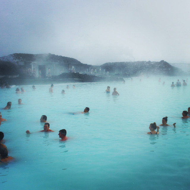 In Iceland at the Blue Lagoon