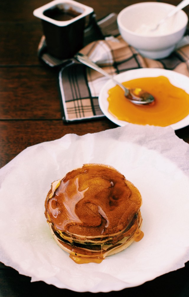 pancakes with honey and other different fillings