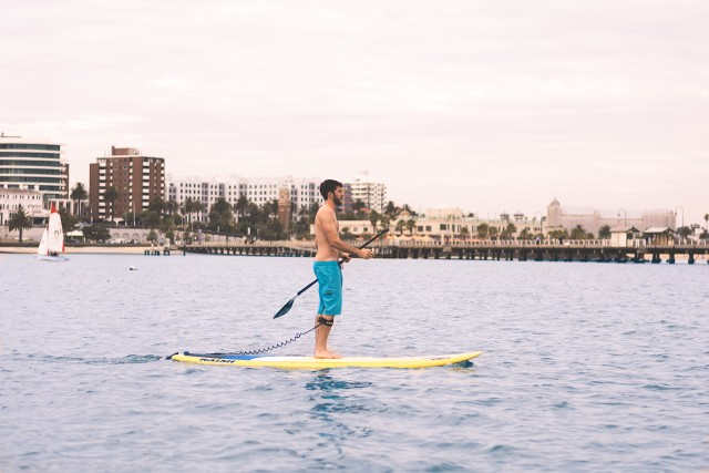 Standup paddle boarding...