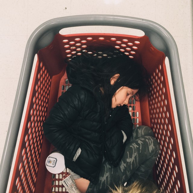 Sleeping in a cart
