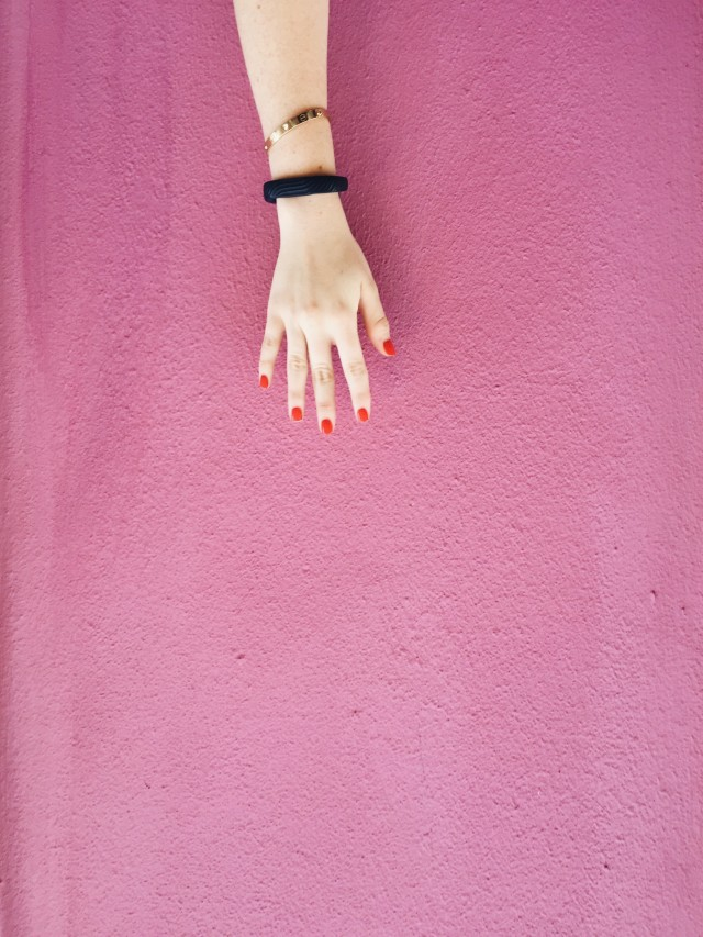 Reaching for a Pink WALL