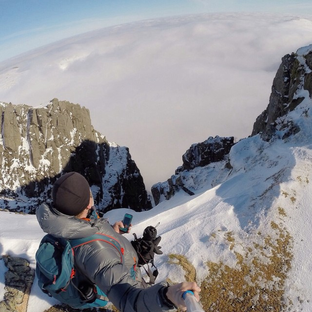 When your looking down on the clouds you know your either flying, climbing or you fell!