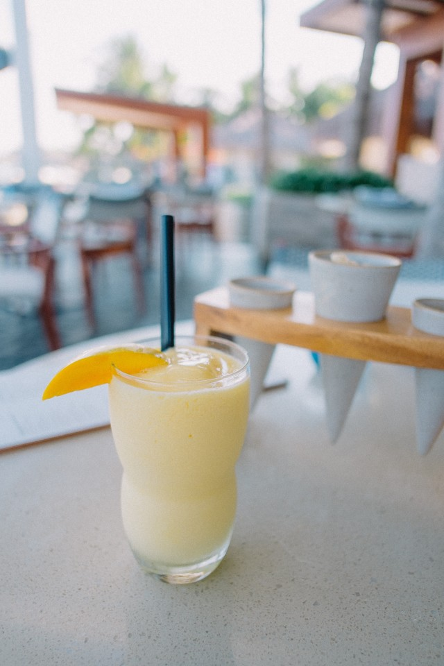 Fresh mango shake at azure