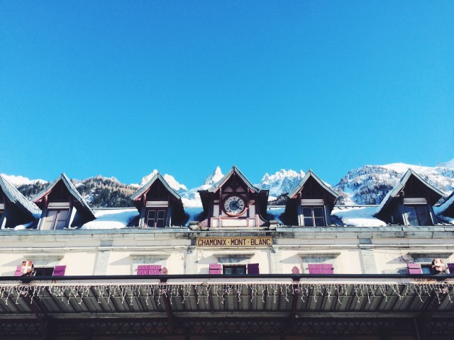 Train station in Chamonix