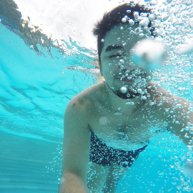 Free authentic swimmer photo on Reshot