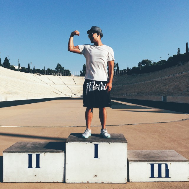 Flexing required...at the Panathenaic Stadium 💪