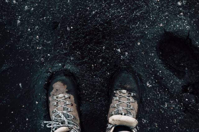 Feet in the mud