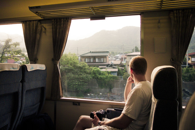 In thought on the train across the country side