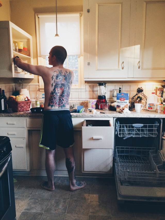 Yes, you can do the dishes. 😍