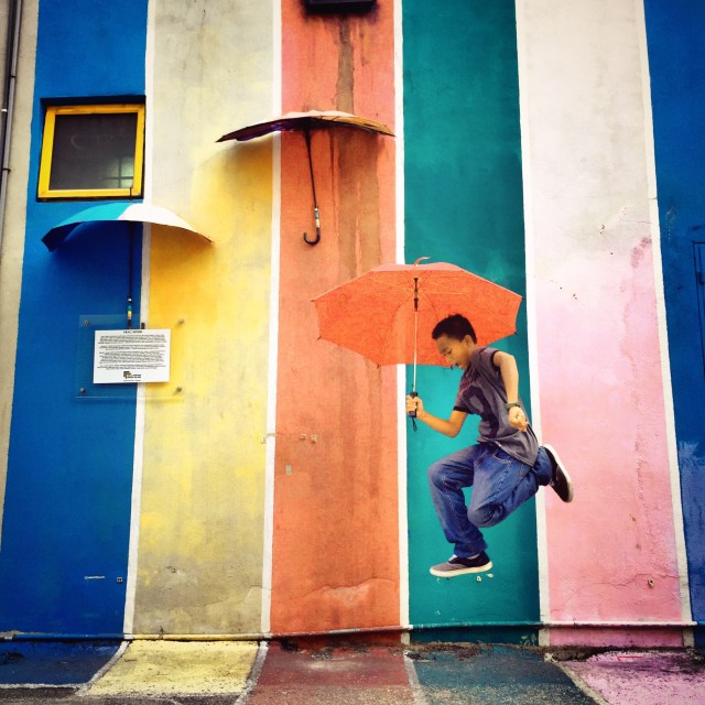 """""""A rainbow shining after the rain"""". This picture shows how much happy & enjoy you are to be born in Malaysia... A beautiful & colourful country, rich with different cultures and place to visit..."""