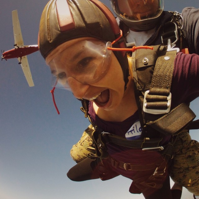 Skydiving, pure joy