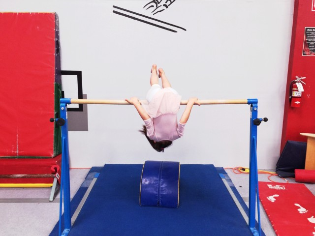 My daughter during gymnastics.