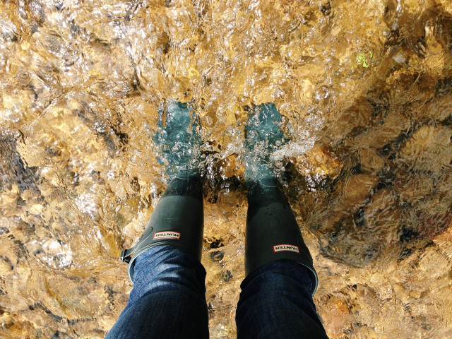 These boots were made for walking... through rivers