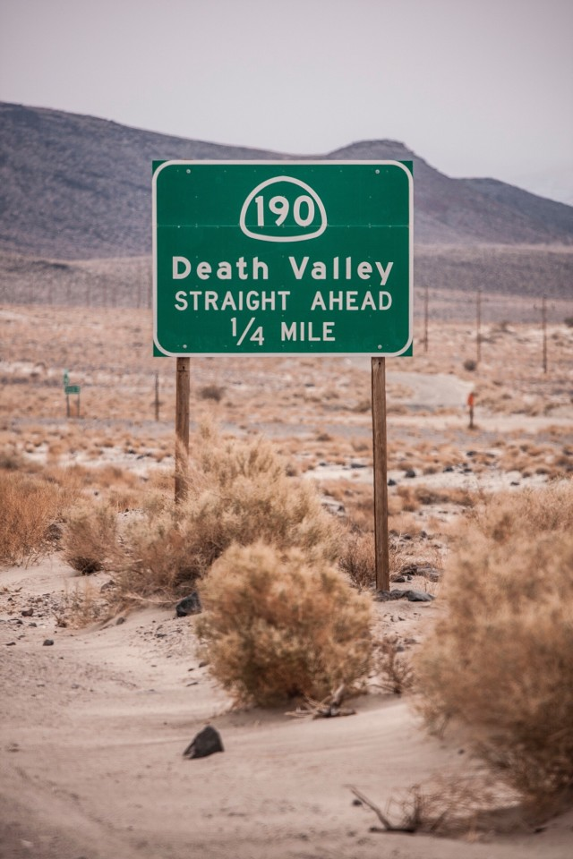 Road sign | Death Valley, CA