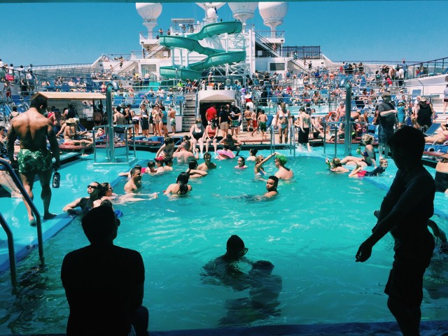Free authentic pool party photo on Reshot
