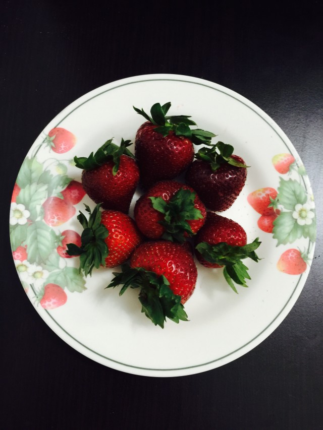 Strawberries in a plate