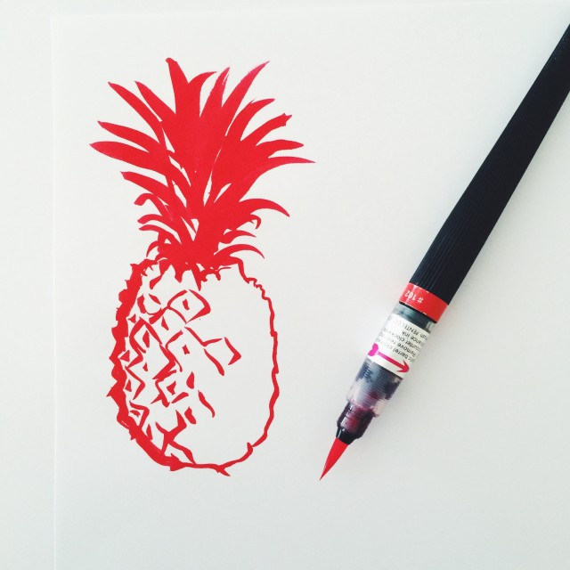 Pineapple Doodle - my original artwork
