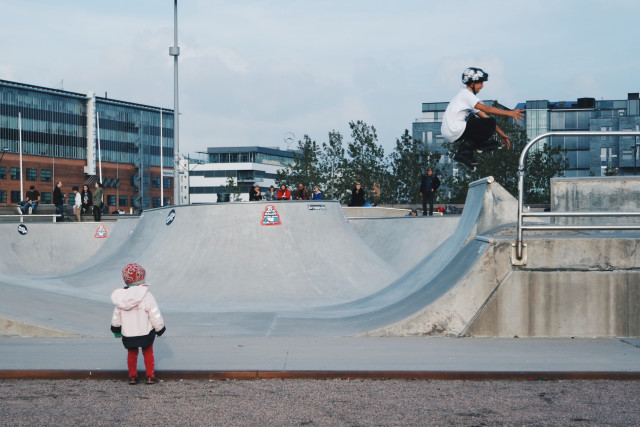 Free authentic skateboarding photo on Reshot