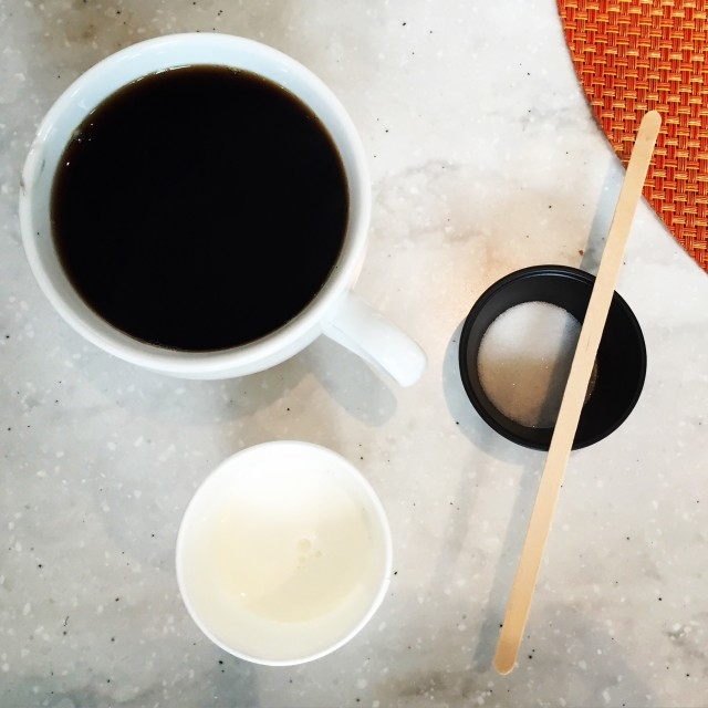 Coffee milk and sugar
