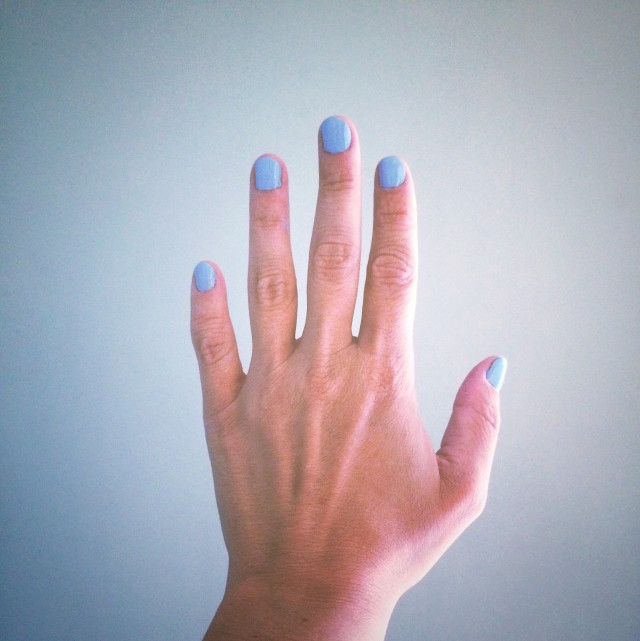 Painted nails, monochromatic